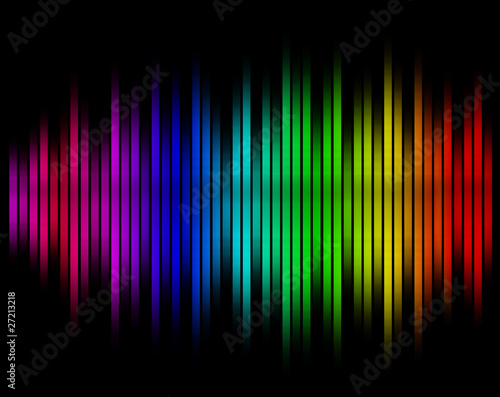 sound waves equalizer in blurred background
