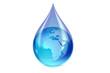 Goutte d'eau et la terre