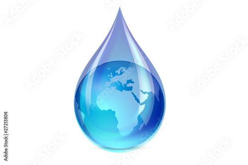 Goutte d'eau et la terre - 27213804