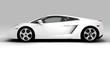 White fast car