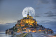 Leinwanddruck Bild - HDR du Mont-Saint-Michel