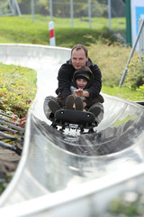 On a bobsled run