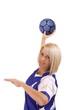 female handball player