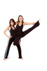 womans doing yoga