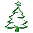 Sapin de Noël vert reflets