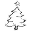 Sapin de Noël en chrome
