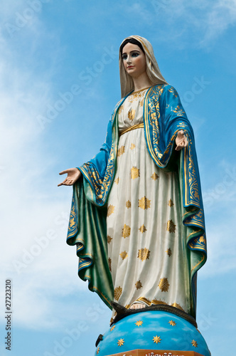 Virgin mary statue at Chantaburi province