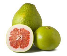 Ripe pomelos