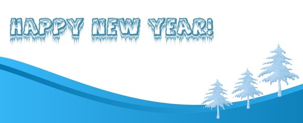 Happy New year  baner for site design