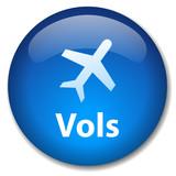 Bouton VOLS (destinations agence de voyages tourisme aéroport) poster