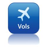 Bouton Web VOLS (agence de voyages tourisme destinations guide) poster