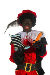 Black Piet with shoe and carrot