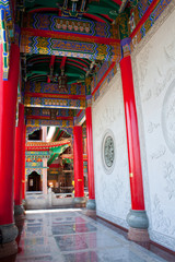 Chinese style path way in Temple