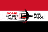 Yemen flag and Bomb by air mail