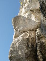 Gesicht im Berg - Kletterwand