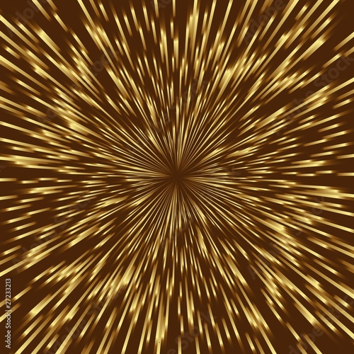 Stylized golden fireworks