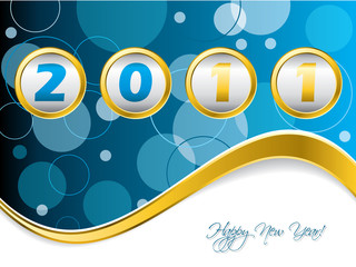 Dotted blue year counter