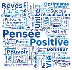 Nuage de Mots - Pensée Positive en Français