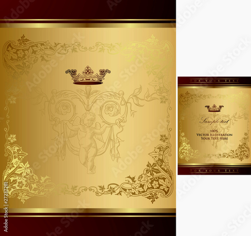Royal Gold Floral Background