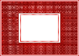 The stylized claret frame with a white background