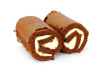 Pair Chocolate and Cream Filled Rolls