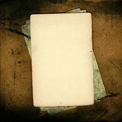 Grunge papers over brown background great for scrapbook