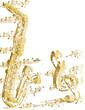 Saxophon und Noten