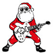 Weihnachtsmann mit Gitarre - 27240041