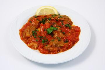 piatto di peperoni piccanti