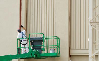 Painter on Lift