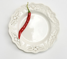 Red Pepper on Plate