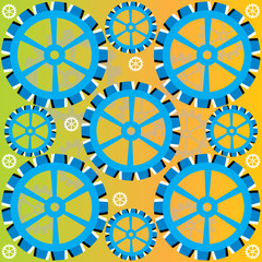 Blue Wheel Deal  (motion illusion)