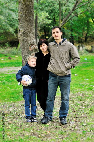 family in forest