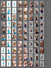fashion shoot contact sheet