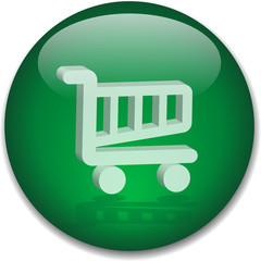 SHOPPING CART Web Button (online buy now order add to cart icon)