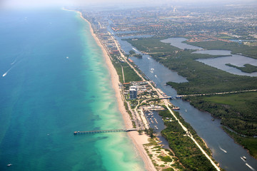 Air View of Miami Florida