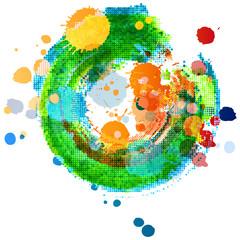 painting art - vector grunge design elements - watercolor paint