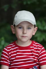 Portrait of preschooler boy with baseball cap