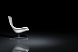 White design armchair
