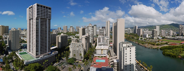 Wikiki Honolulu Panorama