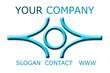 logo symbole bleu