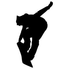 Snowboarder Silhouette