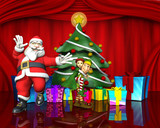 santa and the elves helpers good time poster