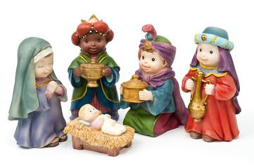 Belén, adoración de los Reyes magos
