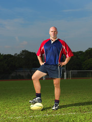 Rugby Player standing proud