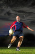 Dynamic pic of Rugby Player
