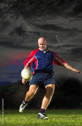 Dynamic pic of Rugby Player Poster