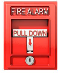 Fire alarm, 3d render