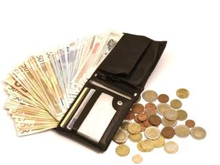 gut gefüllte Brieftasche