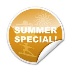 Pegatina SUMMER SPECIAL! con reborde